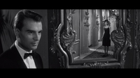 Delphine Seyrig reflected in Last Year at Marienbad (1961).