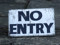 No entry sign, courtesy of Elliot Brown on Flickr