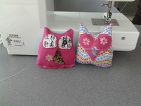 Owl pin cushions from introduction to sewing class