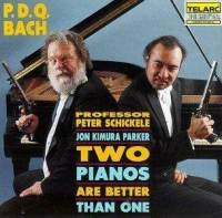 "P.D.Q. Bach ""Two Pianos Are Better Than One"" album cover art"