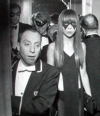 Penelope Tree as she entered Truman Capote's Black and White Ball, 1966