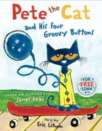 Book jacket of Pete the Cat and His Four Groovy Buttons