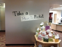 Poem in Your Pocket display