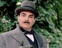 Hercules Poirot (played by David Suchet)