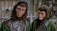 Roddy McDowall and Kim Hunter in Escape from the Planet  of the Apes