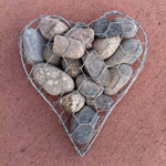wire and stone heart