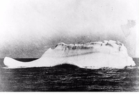 Titanic's iceberg? Photographed Apr 20, 1912, it bore the marks of a collision.