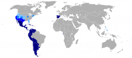 Map of Spanish-speaking countries.