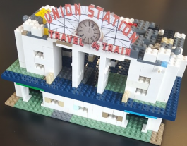 Union Station built with LEGO® blocks