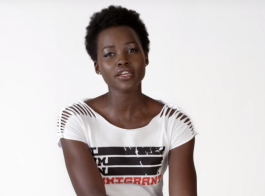Still shot of actress Lupita Nyong'o, from a video at iamanimmigrant.com