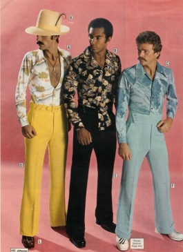 Three male models from a 1970's era Sears catalog
