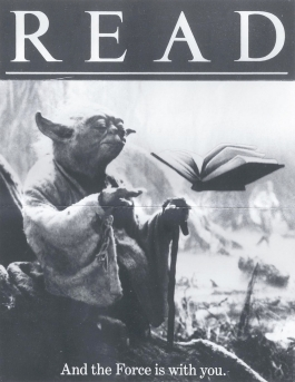 If you use the force, you can ingest floating books within seconds!