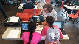 Amazing ideaLAB volunteer Alex helping two DevCamp participants in the ideaLABhttps://www.denverlibrary.org/newsletters