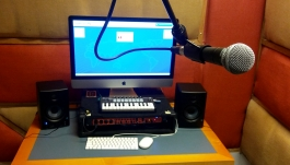 The recording workstation in the Studio in the Community Technology Center