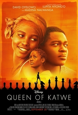 "Poster for the film, ""Queen of Katwe,"" available from DPL"