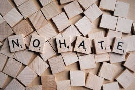 No Hate - public domain - https://pixabay.com/en/no-hate-word-letters-scrabble-2019922/