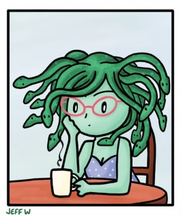 Medusa with Coffee