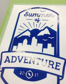 Summer of Adventure Vinyl Sticker