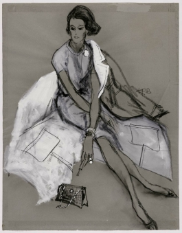 Sketch of Babe Paley, Shopping and Smoking