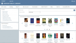 Image of the upgraded catalog home page