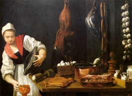 Andrea Commodi's Young Woman in the Kitchen