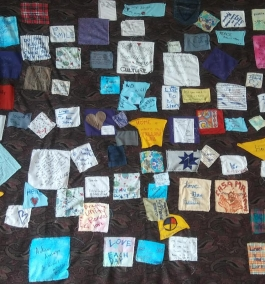 "Culture Quilt created by customers at the Rodolfo ""Corky"" Gonzales branch library."