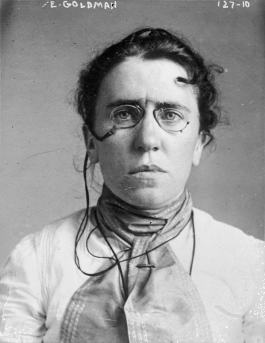 Mugshot of Emma Goldman, Russian immigrant and anarchist.