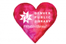 "Heart image with library logo and hashtag ""What's in it for you?"""