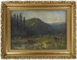 Landscape with Deer by Helen Henderson Chain, courtesy of Western History