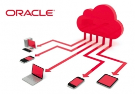 oracle logo and tech devices