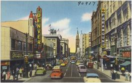 Downtown Denver in the 1950s