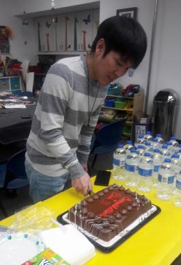 Photograph of DPL staff member Binh, who earned his citizenship this year.
