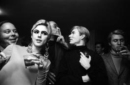 Andy Warhol at a party. Circa 1960