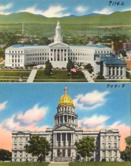 Denver City County Building & Colorado State Capitol