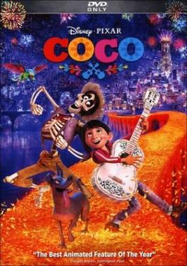 "Cover of the movie ""Coco,"" available at DPL."