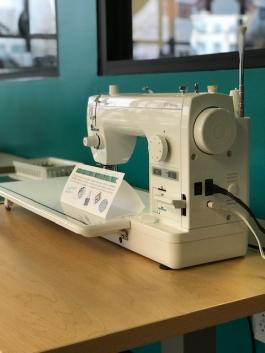 A new sewing machine at the Gonzales Branch Library ideaLAB