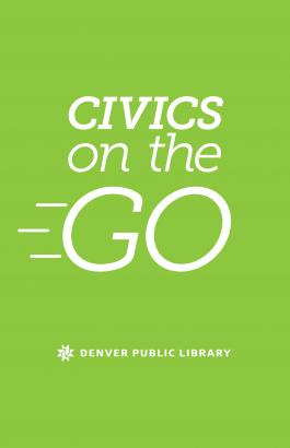 Civics on the go logo on green background