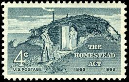 Homestead Act 4c stamp 1962