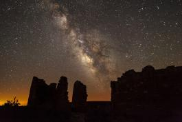 Milky Way over Hovenweep National Monument, Public Domain Photo, National Park Service