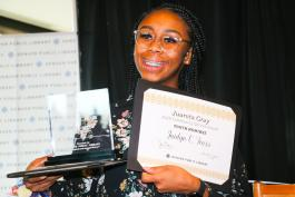 Photo of Jaidyn C. Fears, Recipient of Juanita Gray Youth Award