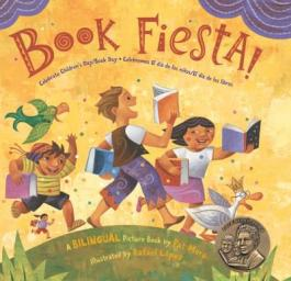 "Cover of the book ""Book Fiesta,"" by Pat Mora"