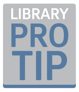 Library Pro Tip