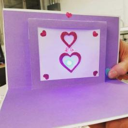 light up valentine's day card