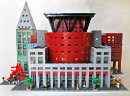 Denver Public Library LEGO® Sculpture built by Imagine Rigney