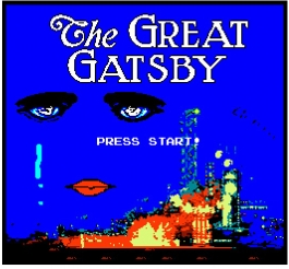 Start Screen for The Great Gatsby video game