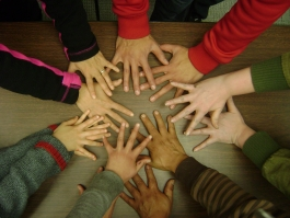 Hands of Plaza participants