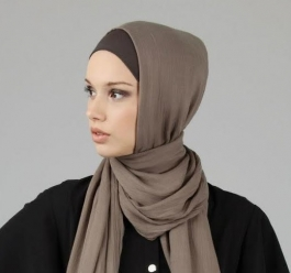Woman wearing a hijab.