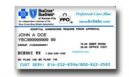 Image of insurance card - Courtesy of Blue Cross Blue Shield