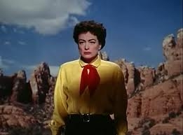 Joan Crawford at the climax of Johnny Guitar