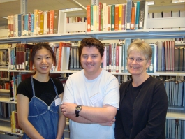 Yi-Ting, Brian, and Nancy (left to right)